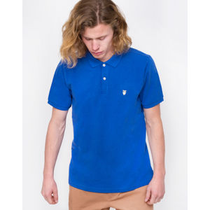Knowledge Cotton Pique Polo 1272 Cobalt melange S