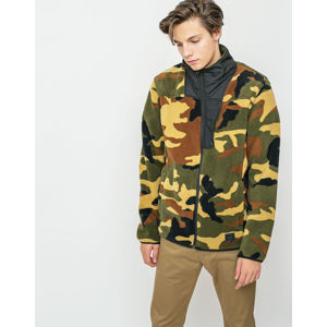 Herschel Supply Fleece Zip Up Woodland Camo/Black M
