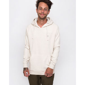 Knowledge Cotton Hood Kangaroo Sweat With Owl Badge 1229 White melange L