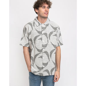 Polar Skate Co. Patterned Polo Shirt Ivory/Black XL