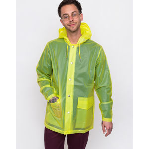 Rains LTD Short Hooded Coat 27 Foggy Neon Yellow L/XL