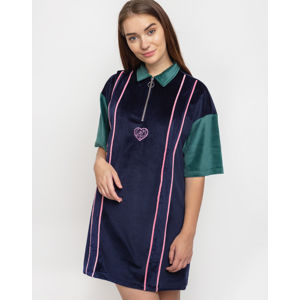 Lazy Oaf Touchy Feely Velour Dress Blue M