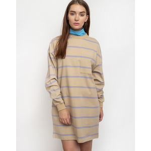 Lazy Oaf Open Tabs Sweater Dress Beige S