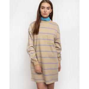 Lazy Oaf Open Tabs Sweater Dress Beige M