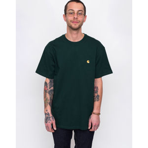 Carhartt WIP Chase T-Shirt Bottle Green/Gold M