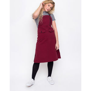 Lazy Oaf Contrast Stitch Pinafore Red M