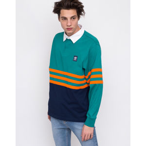 adidas Originals Winchell Polo Active Green/Collegiate Navy/Orange S