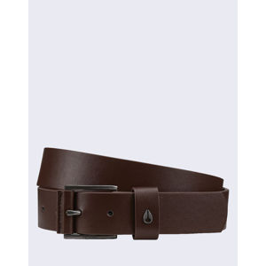 Nixon Americana Leather Belt DARKBROWN L