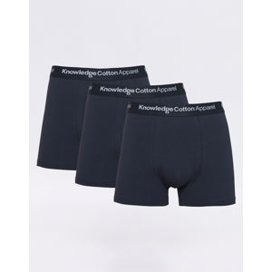 Knowledge Cotton 3 Pack Solid Colored Underwear With Navy Elastic 1001 Total Eclipse S